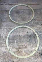 1967 67 FORD MUSTANG GT HEAD LIGHT TRIM RING SET USED OEM  - $79.19