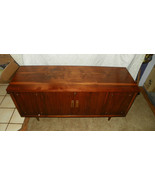 Walnut Mid Century Modern Blanket Cedar Chest / Locking Mechanism Remove... - $449.10
