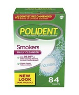 Polident Smokers, Antibacterial Denture Cleanser 84 ea Pack of 4 - $33.46