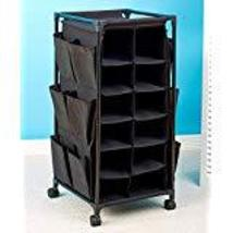 Fashionable Rolling Shoe Storage (Black) by KNL Store - $39.98