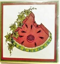 Yvonne Albritton Designs Watermelon Bite Unmounted Rubber Stamp