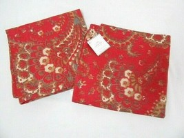 Pottery Barn Chalet Paisley Floral Red 2-PC 20-inch Square Pillow Covers - $69.00