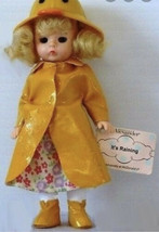 Vtg Madame Alexander McDonalds Its Raining Doll 2003 Toy Rain Coat Girl - $8.90
