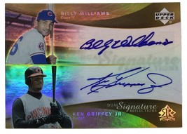 Ken Griffey Jr Billy Williams Signed 2005 UD Dual Signature Reflections ... - $195.02