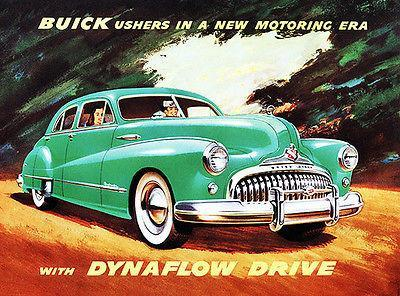Primary image for 1948 Buick with Dynaflow Drive - Promotional Advertising Poster