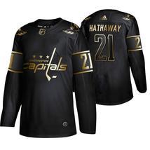 Men's Washington Capitals Garnet Hath Jersey Golden Edition - $59.99