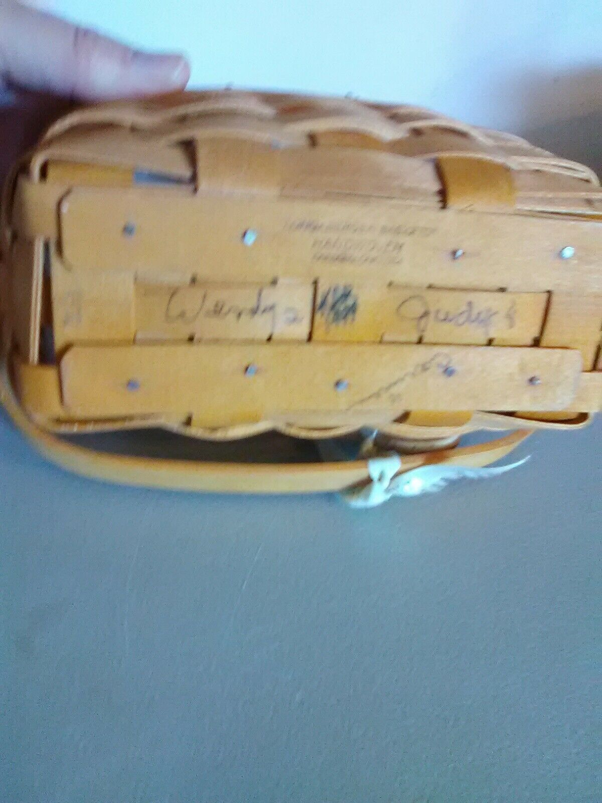 Longaberger Dresden Tour Basket II - 1999 Edition - Swing Handle w Protector image 5
