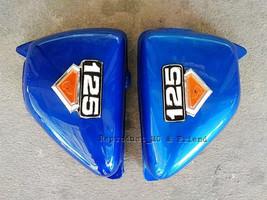 Honda CG125 CG110 JX125 JX110 Side Cover Set L/R Blue New - $18.61