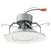 Lithonia Lighting 6 in. Matte White Recessed Gimbal LED Module (3000K) - $29.69