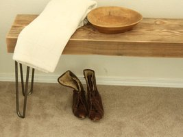 Reclaimed Wood Beam Bench - Hairpin Legs - Free Shipping - $259.00 - $369.00