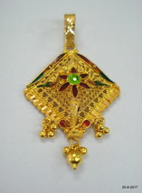Traditional design 22kt gold pendant necklace handmade gold jewellery - $692.01