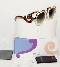 New Prada Minimal Baroque Havana White Gold Sunglasses Spr 07T W/CASE - Italy - $233.74