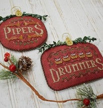 12 Days: Pipers Drummers cross stitch chart Hands On Design - $9.00