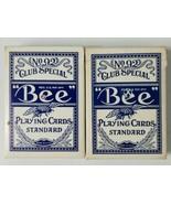 Playing Cards Bee No 92 Club Special Blue Stamp Hilton Sands Cardback De... - $5.89