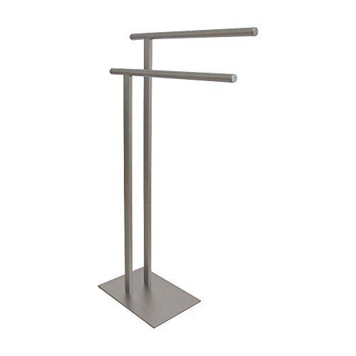 Kingston Brass SCC6038 Edenscape Double L Shape Pedestal Towel Holder, Brushed N