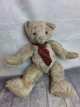 "HALLMARK Teddy Bear Plush 1997 w/ Tie 14"" jointed #T1 - $8.91"