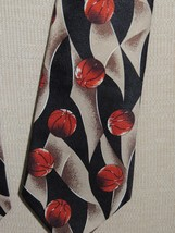 """A Rogers Hand Made 1997 Basketball Neck Tie/ Necktie 59""""x4"""" - $3.59"""