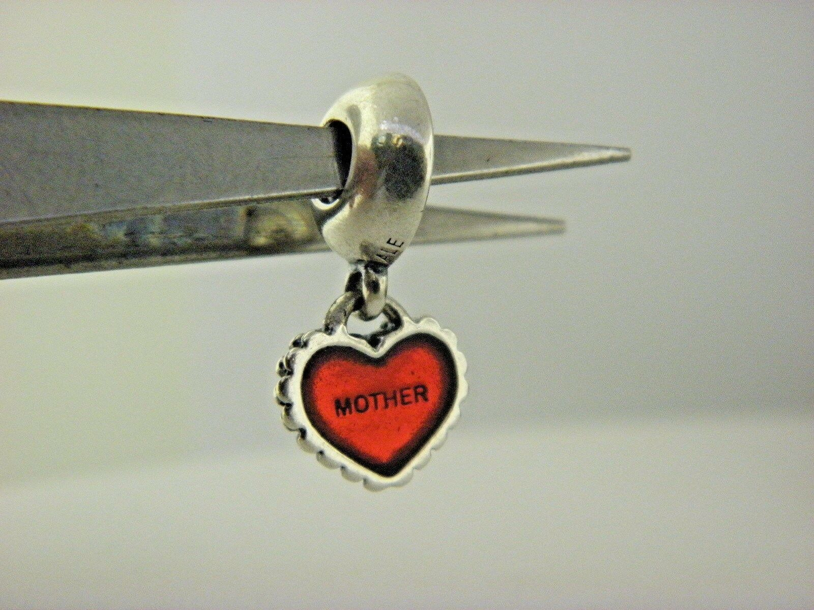 PANDORA Piece Of My Heart, Mother Red Enamel Charm