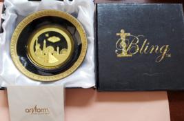 "Las Vegas Art Form 4.5"" Gold/Ivory IBLV Design Commemorative Ceramic Pla... - $9.95"