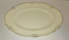 Vintage Homer Laughlin Silver Lined Platter B 38 N 8 - $17.82