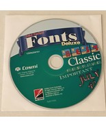 Cosmi Print Perfect Fonts Deluxe PC Computer Software Program CD-ROM Dis... - $9.99