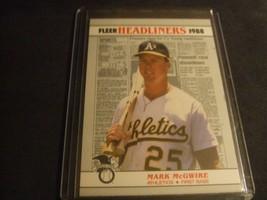 1988 Fleer Headliners #2 Mark McGwire -Oakland Athletics- - $3.12
