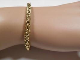 TIFFANY & Co 14K Gold Russian Braid Weave Bracelet Pouch & Box RARE Exc ... - $1,745.99