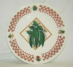 Tabletops Unlimited Garden Fresh Vegetable Peas Dinner Plate Checkerboar... - $19.79