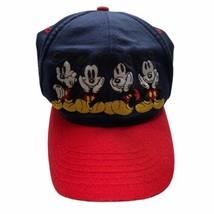 Walt Disney World Mickey Mouse Cap Hat Adjustable Kids 3-7 Disney Navy & Red  - $14.85