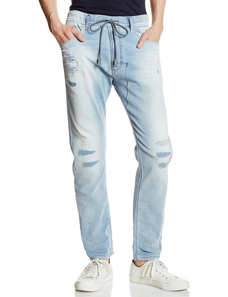 Diesel Men's Premium Designer Denim Sweat Jogger Stretch Jeans Narrot 0673M