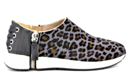 DIESEL S-Zipher SO Womens Casual Athletic Sneaker Leopard Gray Black Size 9 - $85.49