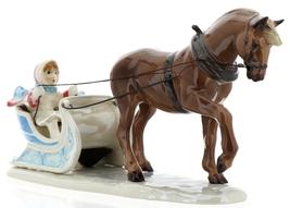 Hagen-Renaker Specialties Ceramic Christmas Figurine Horse Drawn Sleigh image 1
