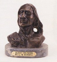 """""""Silent Thunder"""" Collectible Solid Bronze Sculpture Statue By C. M. Russell - $191.10"""