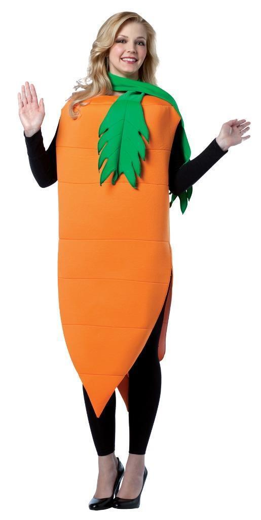 Carrot Adult Costume Men Women Orange Vegetable Food Halloween Unique GC7093