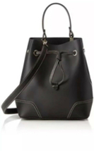 NWT Furla Bucket Bag Stacy S Onyx Black Drawstring Top Handle Bag $378 - $197.99
