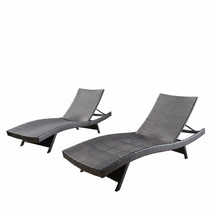 Christopher Knight Home 294919 Lakeport Outdoor Adjustable Chaise Lounge... - $446.99