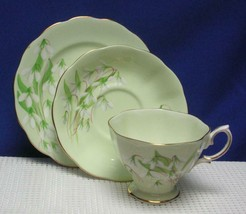 Lovely *TRIO* LAURENTIAN SNOWDROP Tea Cup, Saucer & Side Plate ROYAL ALB... - $24.24