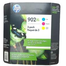 3-Pack HP 902XL 902 Tri-Color Ink Cartridges Cyan Magenta Yellow HY Exp Jan 2022 - $59.39
