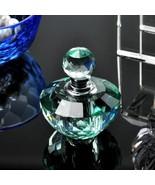 4ml Vintage Light Green Crystal Empty Refillable Mini Perfume Bottle Dec... - $19.34