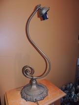 """Wall Desk Lamp 20"""" Cast Metal Art Deco / Nouveau / Antique gas conv elec... - $89.99"""