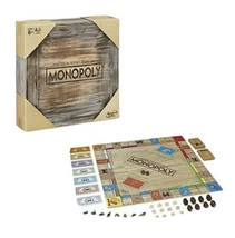 Monopoly Rustic Edition Series Hasbro Parker Brothers Rare Wooden Box Bo... - $30.46