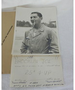 Vintage Photo With Booklyn Joe Joke Note 1944? Army Air Forces - $4.94