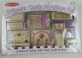Melissa Furniture & Doug Princess Castle Wooden Dollhouse 12 Pcs - $29.69