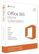 Office 365 Home Premium 1 Year Subscription - 5 PC and 5 Mobile Device - $79.00