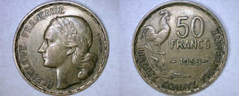 1953 French 50 Franc World Coin - France - $4.99