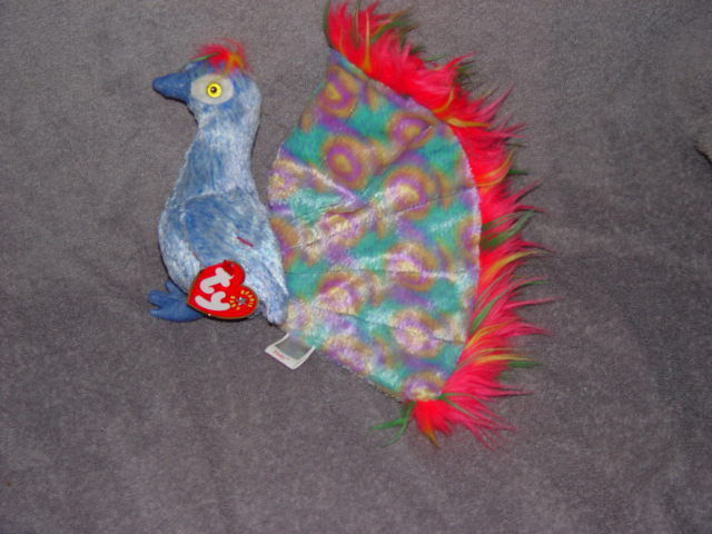 bfe7e8a7ee7 Ty Beanie Baby Flashy The Peacock Retired and 50 similar items