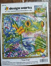 Design Works Tree Frog Counted Cross Stitch Picture Kit NIP 12 X 12 - $19.80