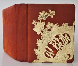 1890 antique PHOTOGRAPH ALBUM celluloid 33 photos Connecticut Massachuse... - $124.95