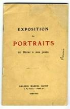 Exposition de Portraits Galerie Marcel Guiot 1930-31 Catalog & Price List - $124.07