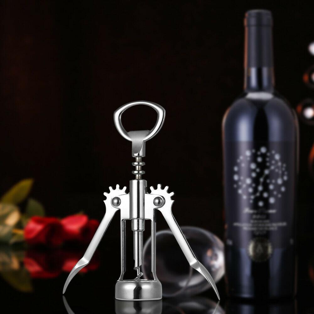 2 in 1 Alloy Wine Bottle Opener Corkscrew Beer Opener Kitchen Bar Tools W6F1